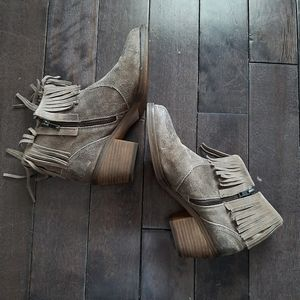 Steve Madden Cavvvo Suede Leather Fringe Booties